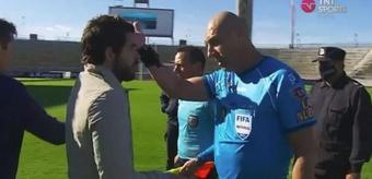 Gago discutió tras el pitido final con Pitana. Captura/TNTSports