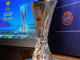 Europa League trophy. FIFA