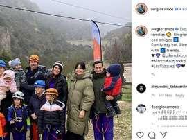 La sortie à la montagne de Ramos, Modric, Lucas Vázquez et leurs familles. Instagram/sergioramos
