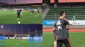 Kepa anotó un gol espectacular de libre directo. Twitter/SeFutbol