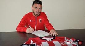 Ángel González deja Godoy Cruz y firma con Estudiantes. Twitter/EdelpOficial