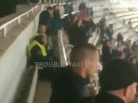 Llegó a haber miedo en las gradas del Olímpico de Atenas. Twitter/TroublemakerES