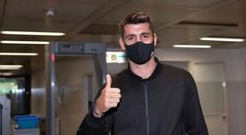 Morata llegó a Turín y la Juve hizo su primera 'presentación'. Twitter/JuventusFC