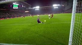 De Gea a évité le 2-0 de Liverpool. Capture/DAZN