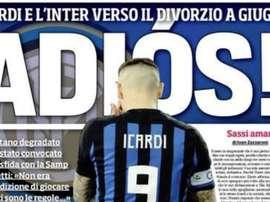 Icardi en pleine guerre avec l'Inter Milan. IlCorrieredelloSport