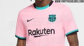 Así sería la tercera camiseta del Barça para el curso que viene. Footyheadlines