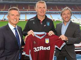 Dean Smith is the new Aston Villa manager. Twitter/AstonVilla