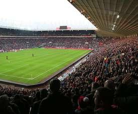 Las gradas del Stadium of Light estaban repletas. Twitter/SunderlandAFC