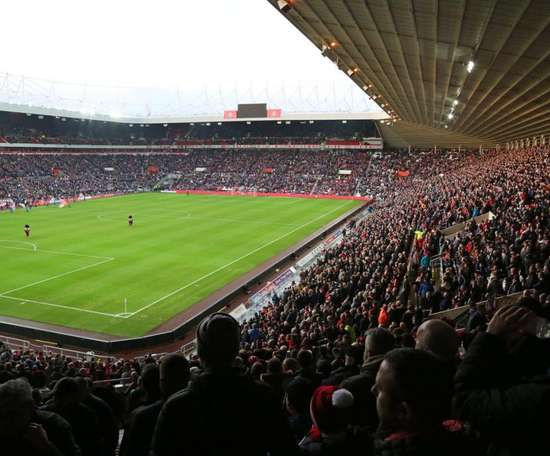 Las gradas del Stadium of Light estaban repletas. Twitter/SunderlandAFC