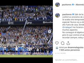 Pau Torres, Alejo y Koné se despidieron del Málaga. Captura/PauTorres