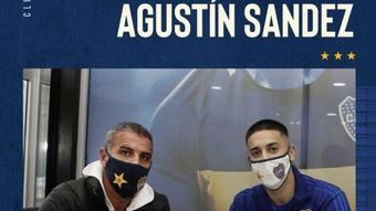 Boca juniors renovó a Agustín Sandez. Twitter/BocaJrsOficial
