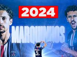 Marquinhos, renewed until 2023. Twitter/PSG_inside