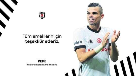Après 51 matches, Pepe tire sa révérence. Besiktas