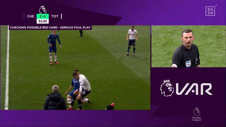 Premier League admit that Lo Celso should have been sent off v Chelsea. Captura/DAZN