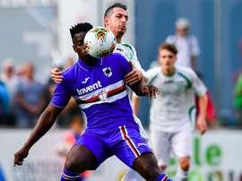 Exhibición goleadora de la Sampdoria. Twitter/Sampdoria