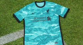 Liverpool have unveiled their away kit. Twitter/LiverpoolFC