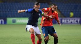 La France tombe en demi-finale de l'Euro U19 contre l'Espagne. Twitter/SeFutbol