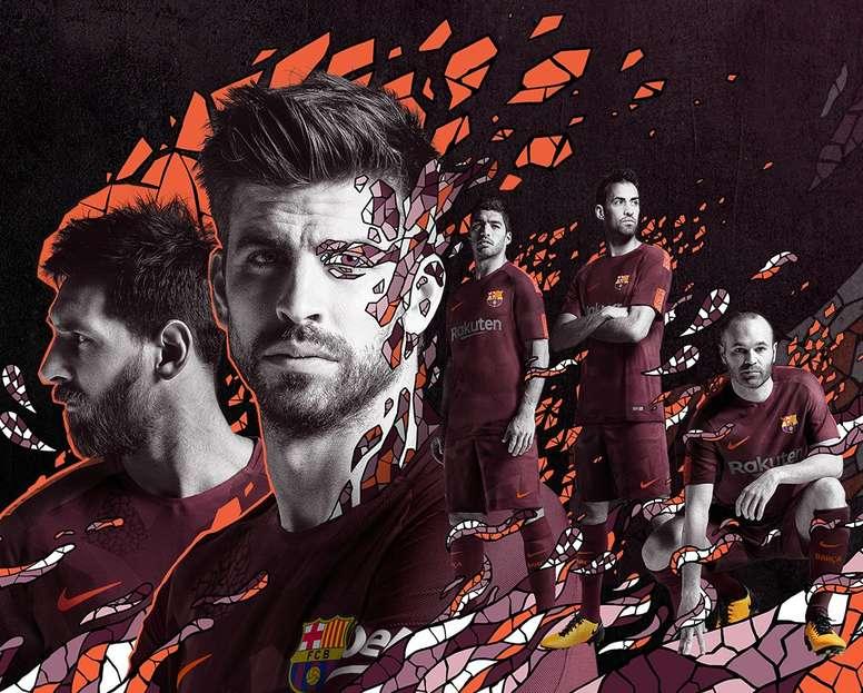 El Barça presentó su tercera equipación para la 17-18 - BeSoccer 2b545d10e0e2c
