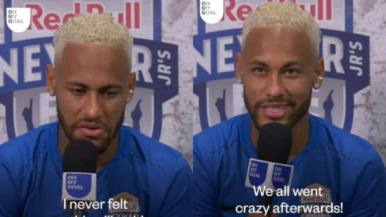 El último guiño de Neymar al Barça incluyó un 'palo' al PSG. Twitter/Ohmygoal