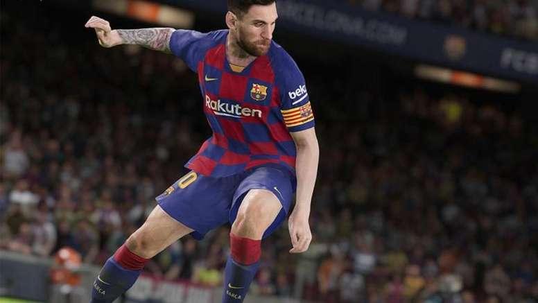 Leo Messi é uma das apostas de licença no PES 2020. Captura/PES