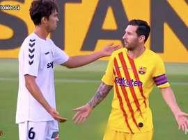 Leo Messi était titulaire lors du match amical. Captura/ElChiringuitoTV