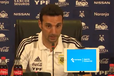 Scaloni confirmed that Messi will play the Copa America. Captura/TNTSports