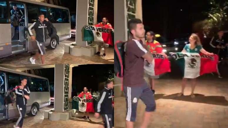 El feo gesto de México con sus aficionados en Bermudas. Captura/TUDN