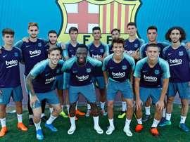 Imagen de los canteranos del Barcelona que estarán en la gira norteamericana. FCBarcelona