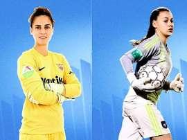 Dos nuevos refuerzos bajo palos para el Málaga Femenino. Twitter/MalagaCFemenino