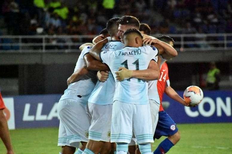 Argentina tumba a la rocosa Selección Chilena. Twitter/Argentina