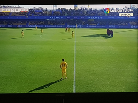 El club le debe tres nóminas a los jugadores. Captura/LaLiga123TV