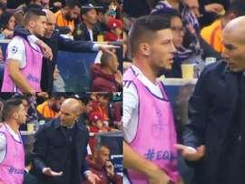 Zidane realised Jovic did not understand his instructions. Captura/Vamos