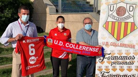 Marcela Restrepo jugará en el Collerense. Twitter/udcolleoficial