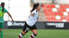 Mari Paz rescató un punto para el Valencia ante la Real Sociedad. Twitter/VCF_Femenino