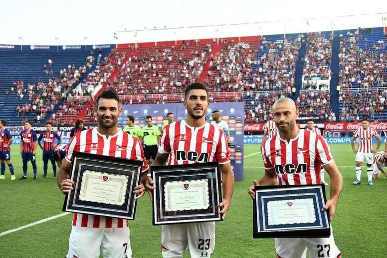 El homenaje de San Lorenzo a Mascherano y a sus campeones de 2014. SanLorenzo