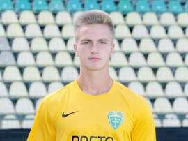 Imagen de Matej Dybala, jugador de la cantera del MSK Zilina. AkademiaMSKZilina