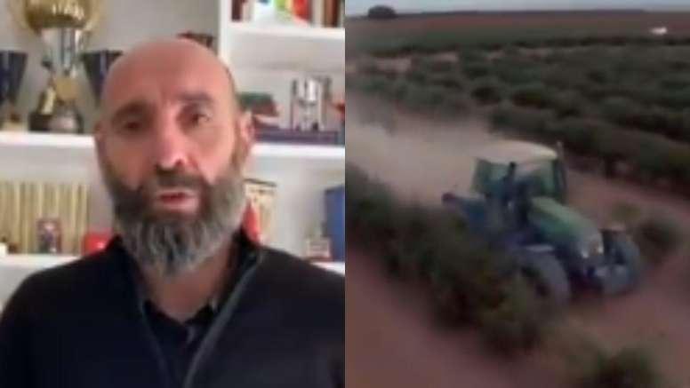 Monchi mandó un mensaje a los trabajadores esenciales del pueblo andaluz. Twitter/AgriculturAnd