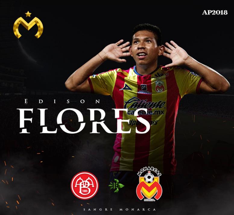 Edison Flores deja la Liga Danesa por el fútbol mexicano. Morelia
