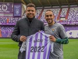 Nacho cumplirá cuatro años en el Valladolid. Twitter/RealValladolid