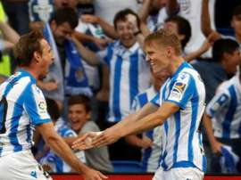 Nacho Monreal spoke about Real Sociedad's current situation. EFE