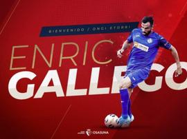 Enric Gallego pasa de Getafe a Osasuna. Osasuna
