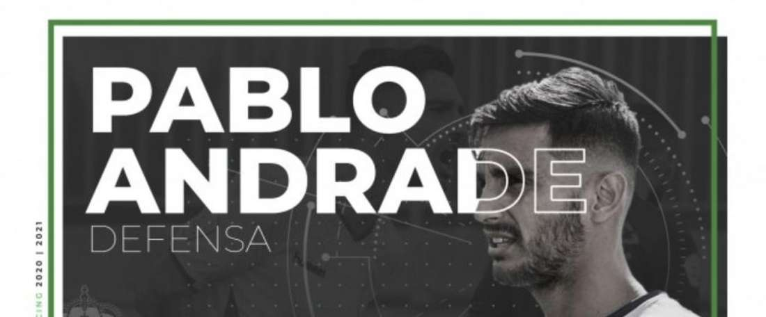 El Racing ficha a Pablo Andrade. Twitter/RealRacingClub