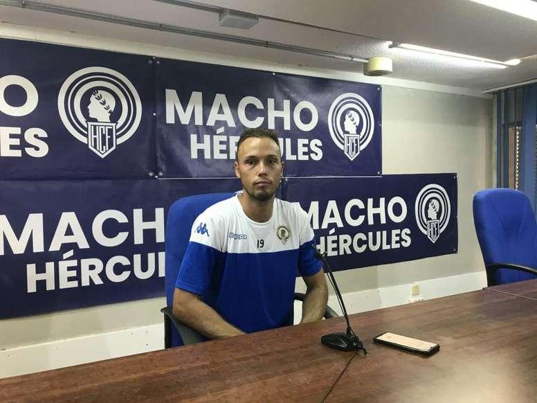 Íñiguez, con ganas de una nueva temporada con el Hércules. HérculesCF
