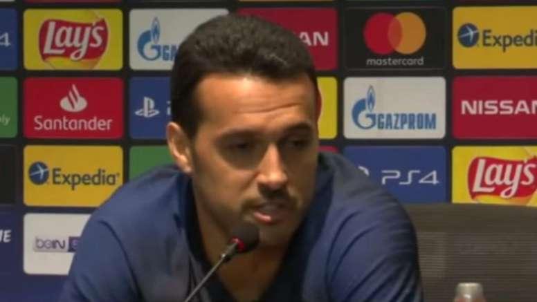 Pedro Rodriguez a oublié Piqué dans sa liste. Capture/Chelsea