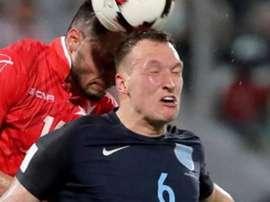 Phil Jones se moque lui-même de ses 'memes'. AFP