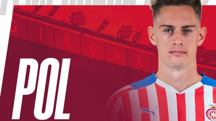 El Girona confirmó la cesión de Pol Lozano. Twitter/GironaFC