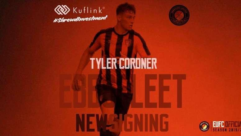 Tyler Coroner has moved to Ebbsfleet to develop his skills. Twitter/EUFCofficial
