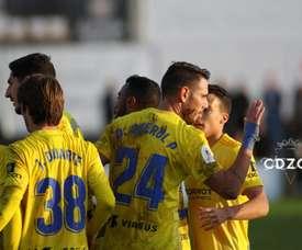 El Cádiz pasó de ronda gracias a un gol de Querol. Twitter/Cadiz_CF