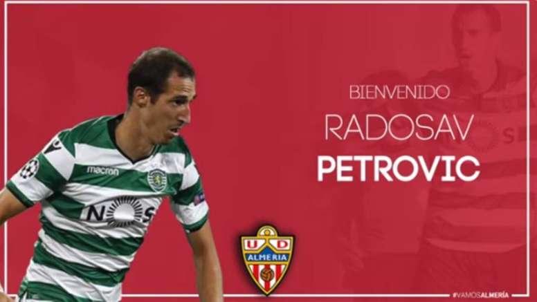 Petrovic llega al Almería hasta 2022. Twitter/U_D_Almeria