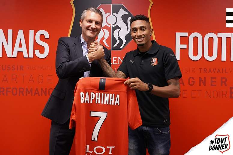 El Rennes pagó 21 millones de euros por Raphinha. StadeRennais